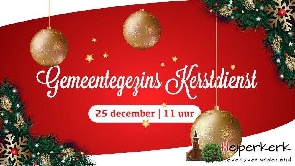 25 december om 11 uur in de Helperkerk